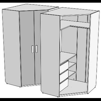Шкаф-трапеция с 3 ящиками (схема) Fmebel