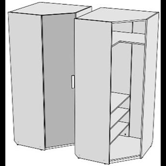 Шкаф-трапеция с полками (схема) Fmebel