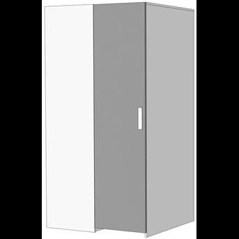 Шкаф-гардероб угловой прикроватный (схема) Fmebel