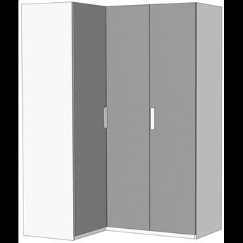Шкаф-гардероб угловой c 3 внутренними ящиками (схема) Fmebel