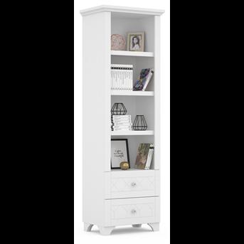 505_Книжный шкаф RE 60 Royal White Meblik