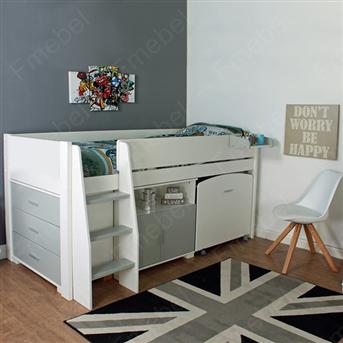 Кровать-чердак со столом Аляска Fmebel 80х190