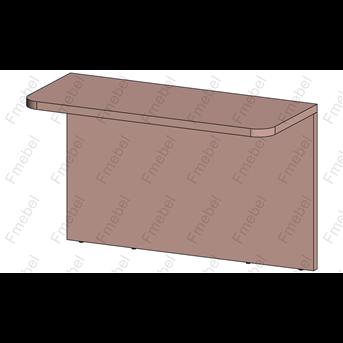 Стол Г-образный (схема) Fmebel люкс