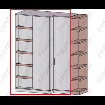 Шкаф с раздвижными фасадами (схема) Fmebel люкс