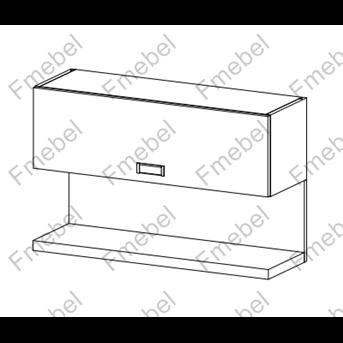 Полка комбинированная (схема) Fmebel люкс