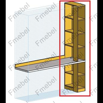 Стеллаж торцевой для шкафа (схема) Fmebel стандарт