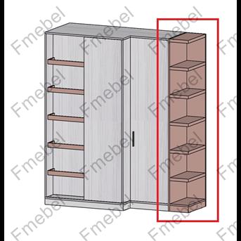 Стеллаж торцевой для шкафа (схема) 2 Fmebel стандарт