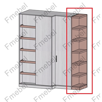 Стеллаж торцевой для шкафа (схема) 2 Fmebel элит