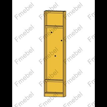 Стеллаж торцевой для шкафа с крючками для одежды (схема) Fmebel стандарт