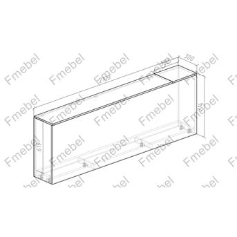Тумба для белья 2000 мм (схема) Fmebel элит