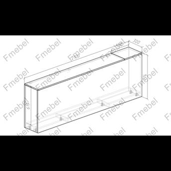 Тумба для белья 2000 мм (схема) Fmebel люкс