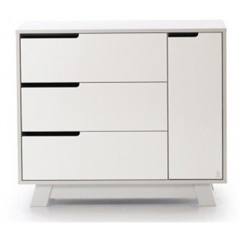 Комод (900) (пп) Манхэттен Верес бело-серый