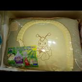"""Роспродажа ДБ026 Спальный набор в детскую кровать """"Пчелка с вышивкой"""" желтый"""