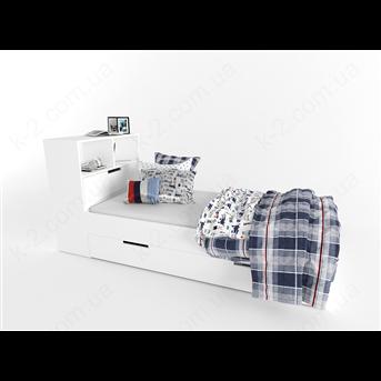 32/34 Кровать с низкой тумбой для белья 90х190 К-2 стандарт