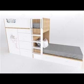 52 Кровать двухъярусная с лестницей 90х200 серия Sakura К-2 люкс