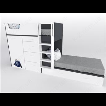 52 Кровать двухъярусная с лестницей 90х200 серия Voyage К-2 элит