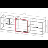 51 Кровать двухъярусная со ступеньками-комодом 90х190/200 серия Xracer К-2 стандарт