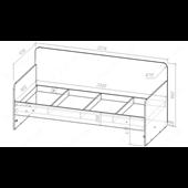 51 Кровать двухъярусная со ступеньками-комодом 90х190/200 серия Wind К-2 элит