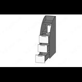 51 Кровать двухъярусная со ступеньками-комодом 90х190/200 серия Xracer К-2 элит