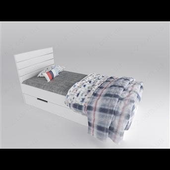 15 Кровать с мягким изголовьем 90х200 К-2 люкс