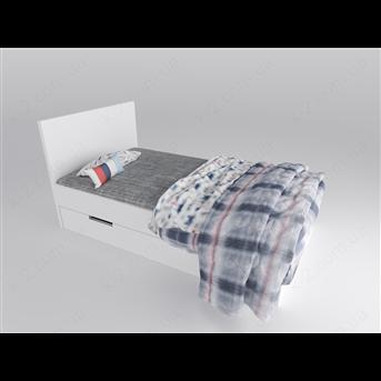 16 Кровать с твердым изголовьем 120х200 К-2 люкс