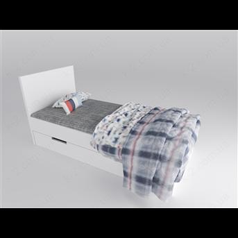 16 Кровать с твердым изголовьем 90х190 К-2 люкс