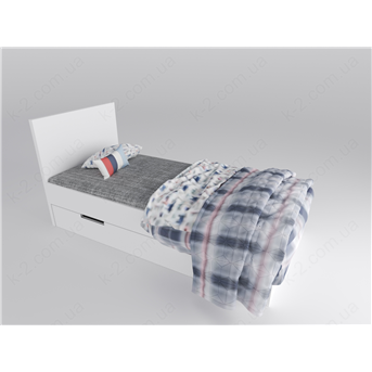 16 Кровать с твердым изголовьем 90х200 К-2 люкс