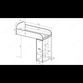 51 Кровать двухъярусная со ступеньками-комодом 90х190/200 серия Xracer К-2 люкс