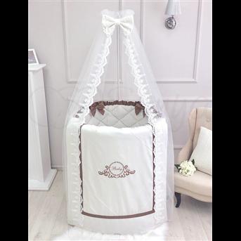 Распродажа Комплект в овальную кроватку Belissimo шоколад 7 предметов Маленькая Соня