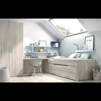 Кровать с дополнительным спальным местом и ящиками (схема) Fmebel стандарт