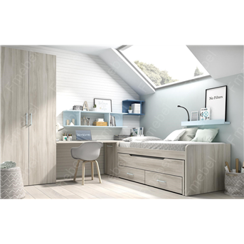 Кровать с дополнительным спальным местом и 3 ящиками (схема) Fmebel элит