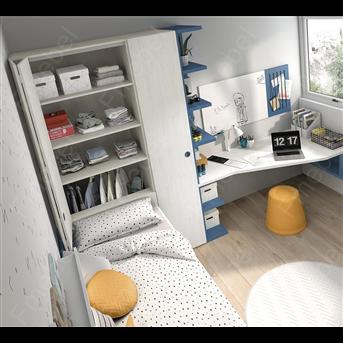 """Шкаф прикроватный со сдвижной дверкой """"гармошка"""" (схема) Fmebel стандарт"""