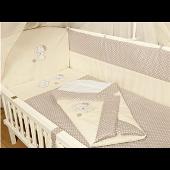 Распродажа ДБ061/3Комплект постельного белья комбинированный с вышивкой (простыня на резинке) Медисон песик бежевый