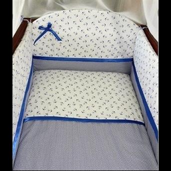 Распродажа ДБ061 Комплект постельного белья Медисон синие якоря