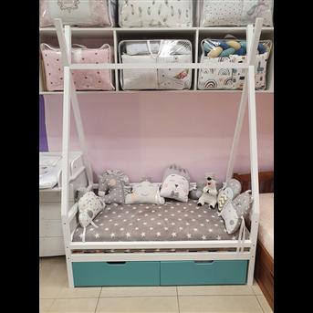 Распродажа Кровать Моана с ящиками 70х140 MegaОПТ белый