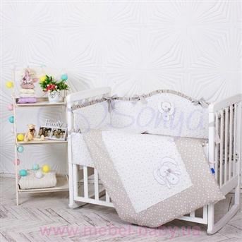 Распродажа Набор постельного белья Lucky star серый (6 предметов) Маленькая Соня