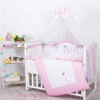 Распродажа Набор постельного белья Lucky star розовый (7 предметов) Маленькая Соня