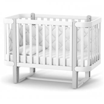 Распродажа Кроватка с маятниковым механизмом Монако ЛД5 Верес 60x120 Бело-серый