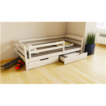 Распродажа Кровать-диванчик с ящиком и бортиком Хюго (масcив) Луна 80x160