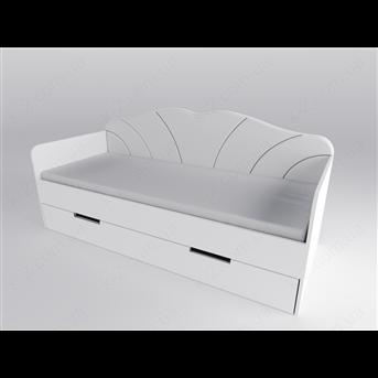 Распродажа 30a Диван с фигурной мягкой спинкой, ящиком и матрасом 90х200 К-2 стандарт