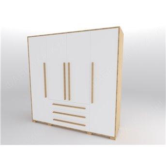 46 Шкаф четырехдверный 200 серия Nature White К-2 стандарт