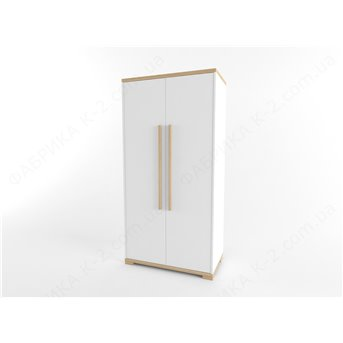 12 Шкаф двухдверный 100 серия Nature White К-2 люкс