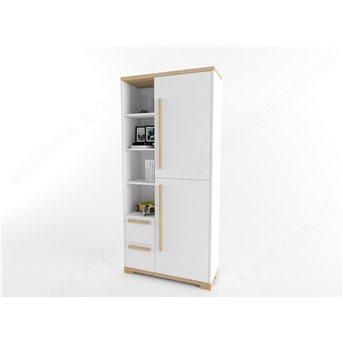 11 Шкаф-стеллаж 100 серия Nature White К-2 стандарт