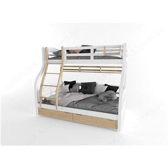 Кровать двухъярусная 80х200/120х200 серия Nature White К-2