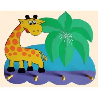 Вешалка Жирафик и пальма