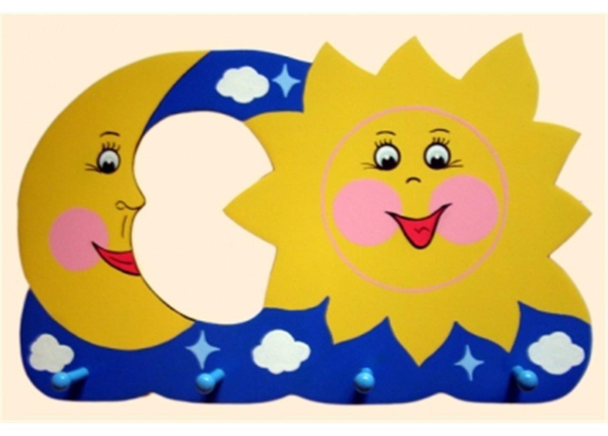 Вешалка Солнце-Месяц