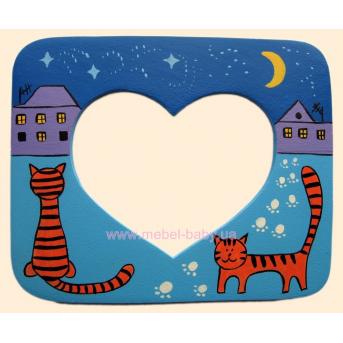 Рамочка для фото Влюбленные котики