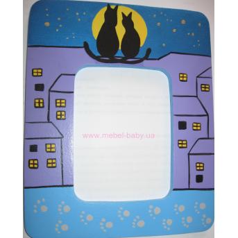 Рамочка для фото Коты на крыше
