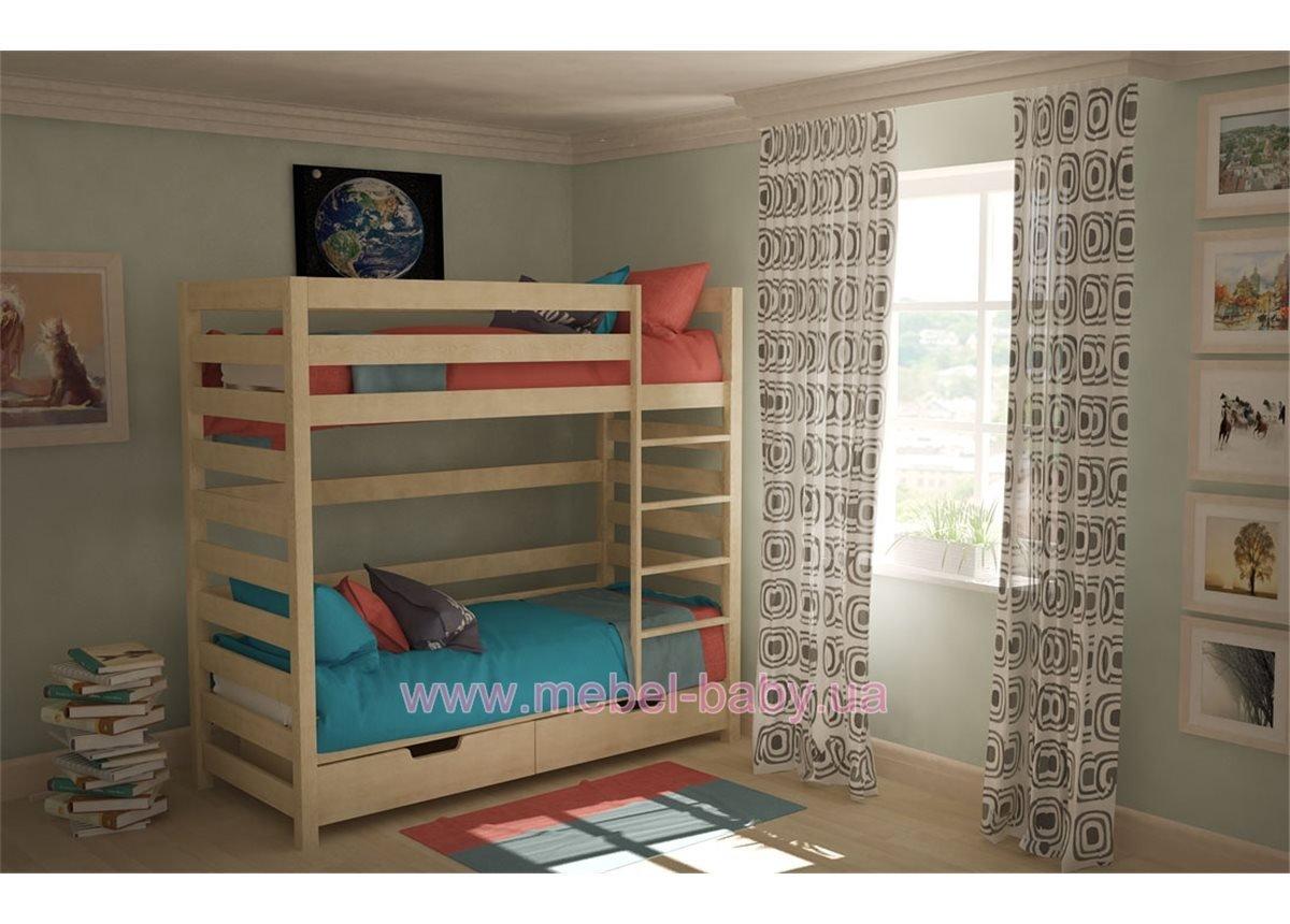 Двухъярусная кровать 90х190 Woodman 80х190 Бук Дерево