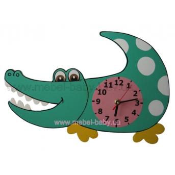 Настенные часы Крокодил